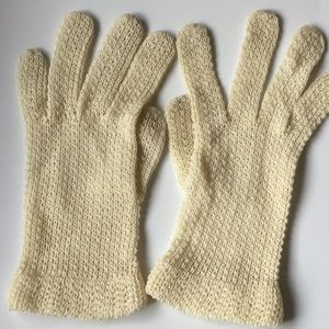 Vintage Knit Synthetic Stretch Gloves